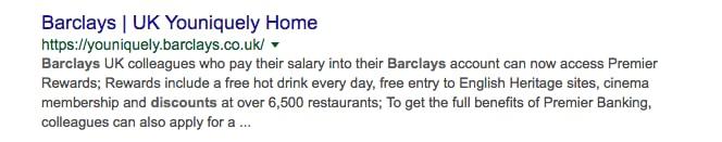 Barclays meta description example